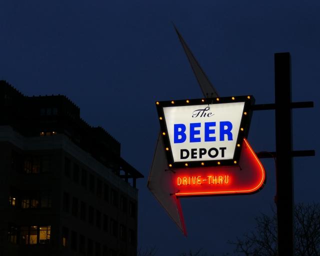 beer depot neon sign